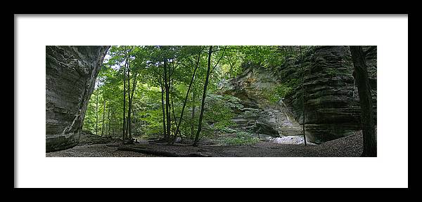 Forest Photographs Framed Print featuring the photograph Kaskaskia Canyon by Gary Lobdell