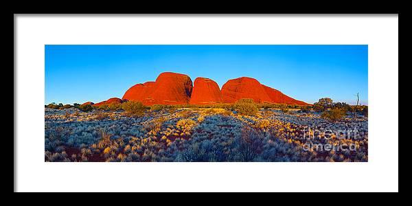 Kata Juta Olga's Northern Territory Central Australia Pano Panorama Landscape Australian Outback Framed Print featuring the photograph Central Australia by Bill Robinson