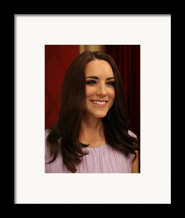 Kate Middleton Framed Print featuring the photograph Kate Middleton Duchess Of Cambridge by Lee Dos Santos
