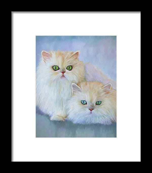 Cat Framed Print featuring the painting Katrina And Bjorn by David Wagner