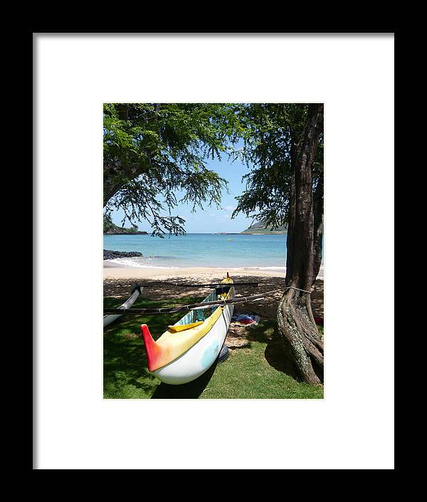 Paddleboard Framed Print featuring the photograph Kauai Watersports by Dee Savage