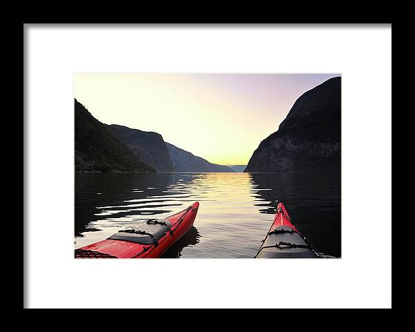Scenics Framed Print featuring the photograph Kayak In Norway by Sjo