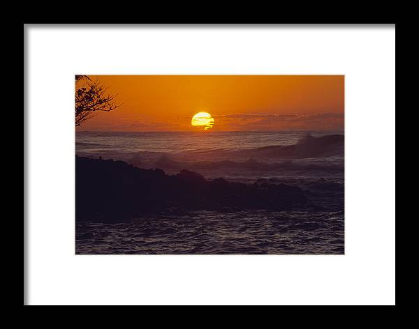 Sunset Framed Print featuring the photograph Kee' Sunset II by Morris McClung