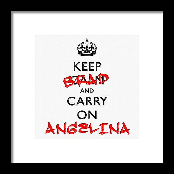Keep Framed Print featuring the digital art Keep Calm And Carry On 01 by Aston Pershing