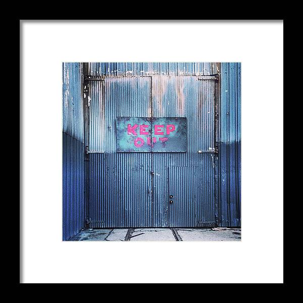 Tranquility Framed Print featuring the photograph Keep Out by Hal Bergman Photography