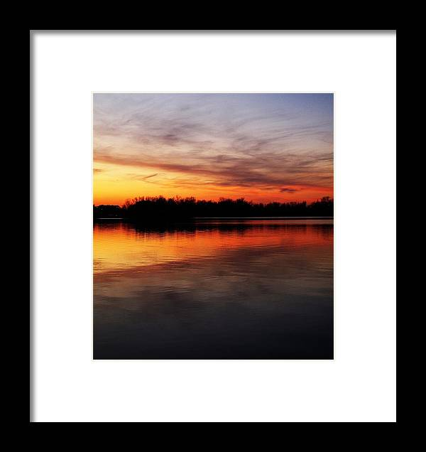 Evening Framed Print featuring the photograph Keep The Water Warm by Frank Chipasula
