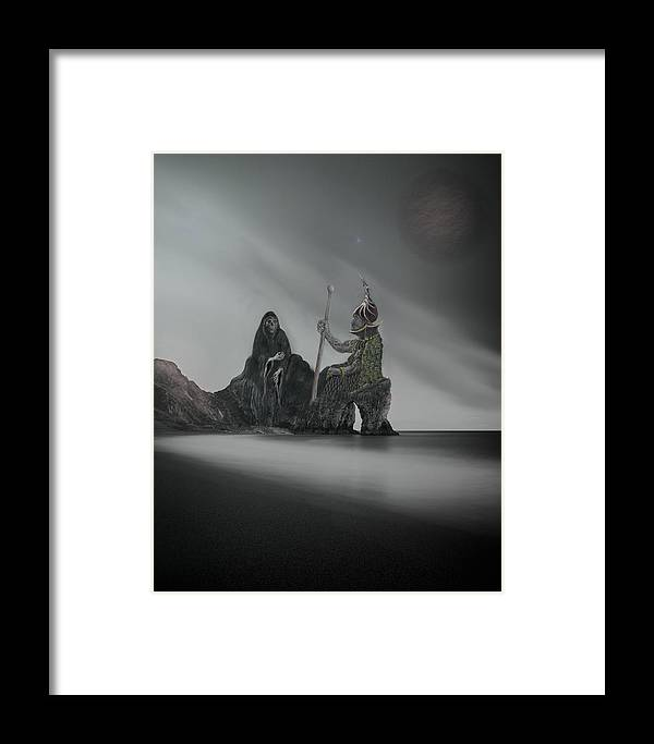 Fantasy Framed Print featuring the digital art Keepers Of The Balance by Phil Rushton