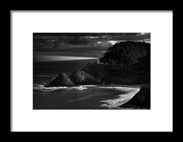 Lighthouse Framed Print featuring the photograph Keeping Watch by Andrew Soundarajan