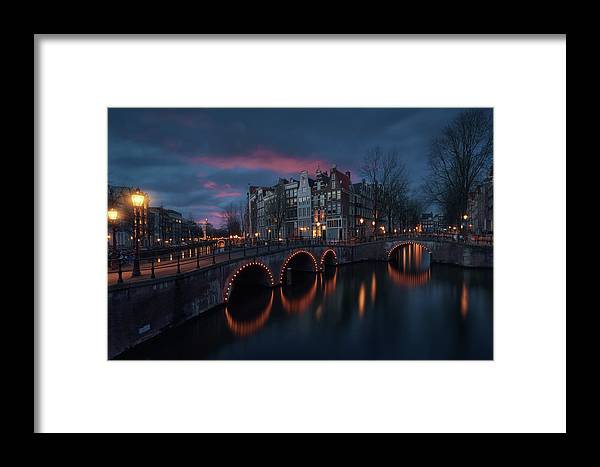 Amsterdam Framed Print featuring the photograph Keizersgracht by Juan Pablo De