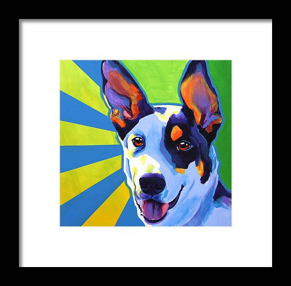 Kelpie Framed Print featuring the painting Kelpie - Oakey by Alicia VanNoy Call