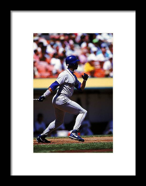 6368cda221 American League Baseball Framed Print featuring the photograph Ken Griffey  Jr.#24.