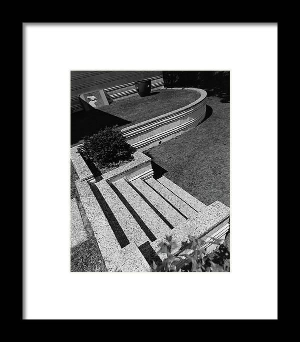 Exterior Framed Print featuring the photograph Kenneth Kassler's Garden by Robert M. Damora