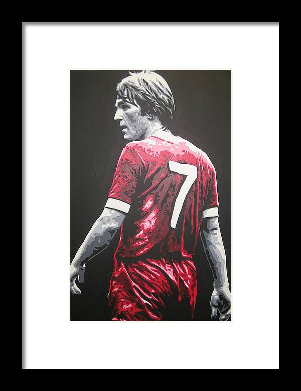 Kenny Dalglish Framed Print featuring the painting Kenny Dalglish - Liverpool Fc 2 by Geo Thomson