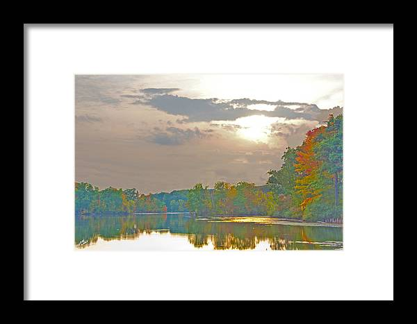 Nature Framed Print featuring the photograph Kensington Autumn Sunset by Bill Woodstock