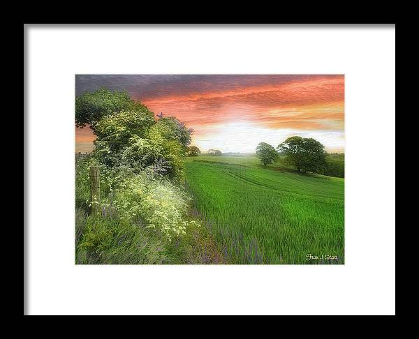 Landscapes In Art Framed Print featuring the photograph Kent Between Storms by Fran J Scott