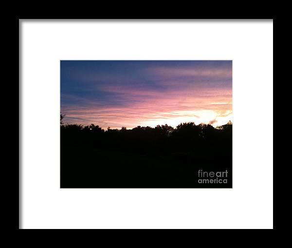 Sunset On Farm Of Kentucky Framed Print featuring the photograph Kentucky Sunset by Valerie Brown