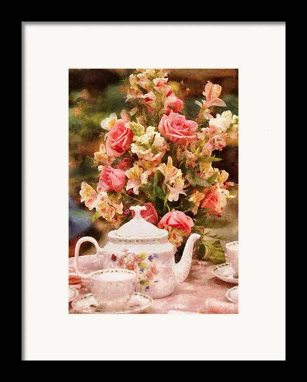 Suburbanscenes Framed Print featuring the digital art Kettle - More Tea Milady by Mike Savad