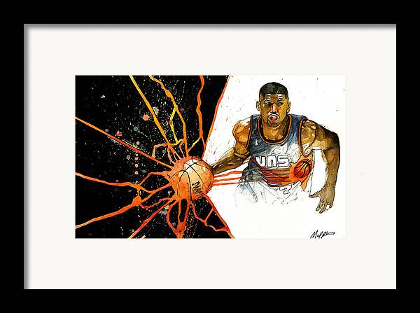 Kevin Framed Print featuring the painting Kevin Johnson - Power Supplier by Michael Pattison