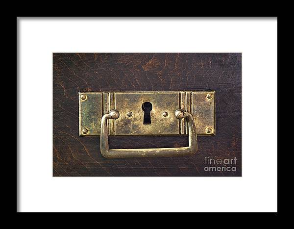 Antique Framed Print featuring the photograph Key Hole by Michal Boubin