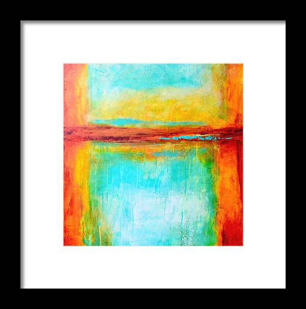 Abstract Framed Print featuring the painting Key West Memories by Filomena Booth