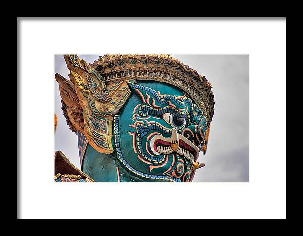 3scape Framed Print featuring the photograph Khmer Guard by Adam Romanowicz