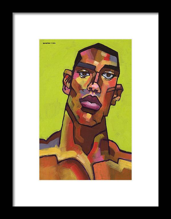 Portrait Framed Print featuring the painting Killer Joe by Douglas Simonson