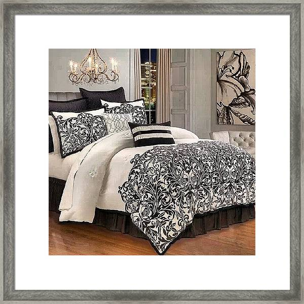 Beautiful Framed Print Featuring The Photograph Kim Kardashian Bed Set From  Her By Brandon Fisher