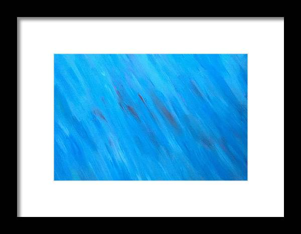 Abstract Framed Print featuring the painting Kind Of Blue by Kevin Ramlogan