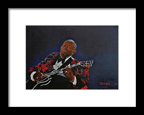 Bb.king Framed Print featuring the painting King of the Blues by Dana Newman