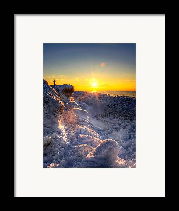Frozen Framed Print featuring the photograph King Of The Hill by Jenny Ellen Photography