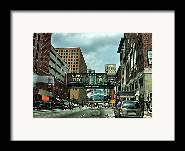 Downtown Framed Print featuring the photograph King Tut In Indy by Julie Dant
