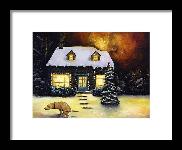Kinkade Framed Print featuring the painting Kinkade's Worst Nightmare by Leah Saulnier The Painting Maniac