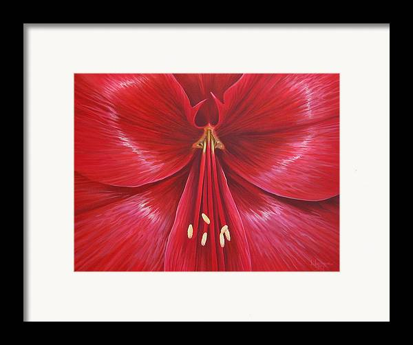 Botanical; Flower Framed Print featuring the painting Kiss Of Life by Hunter Jay