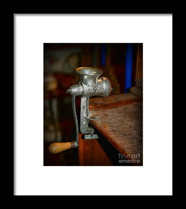 Paul Ward Framed Print featuring the photograph Kitchen - The Meat Grinder by Paul Ward
