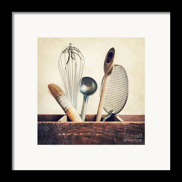 Cook Framed Print featuring the photograph Kitchenware by Priska Wettstein