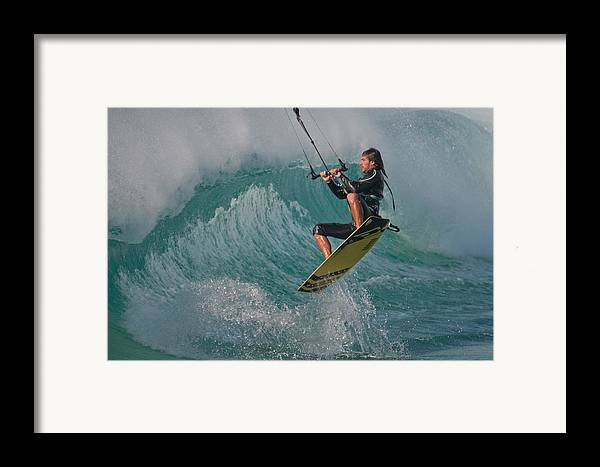 Andalucia Framed Print featuring the photograph Kiting Los Lances by AJM Photography