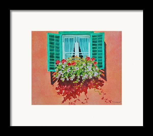 Window Box Framed Print featuring the painting Kitzbuhel Window by Mary Ellen Mueller Legault