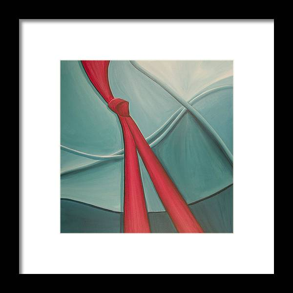 Abstract Framed Print featuring the painting Knot by Marilyn Fenn
