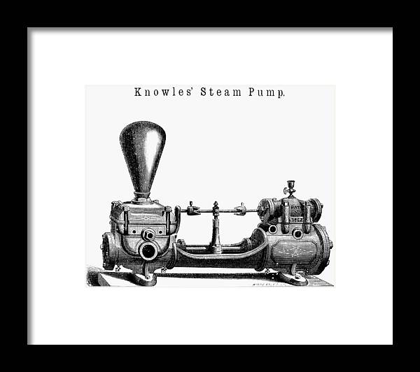1863 Framed Print featuring the painting Knowles' Steam Pump, 1863 by Granger