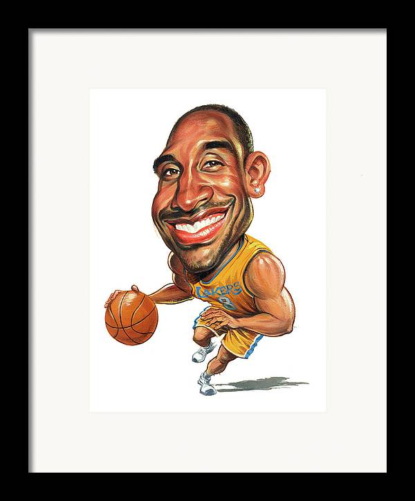 Kobe Bryant Framed Print featuring the painting Kobe Bryant by Art