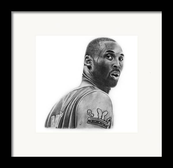 Kobe Framed Print featuring the drawing Kobe Bryant by Don Medina