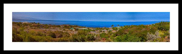 Big Island Framed Print featuring the photograph Kohala Coast Panorama by Omaste Witkowski