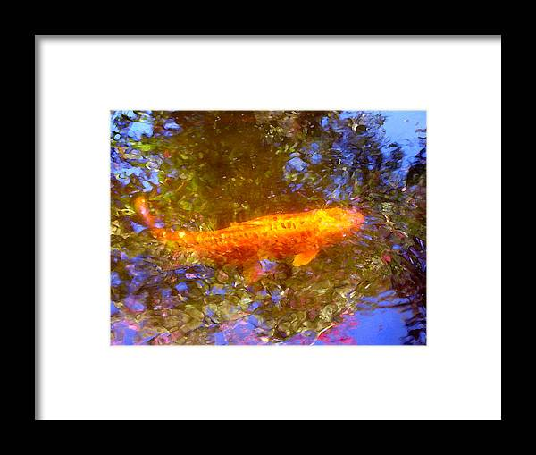Animal Framed Print featuring the painting Koi Fish 2 by Amy Vangsgard