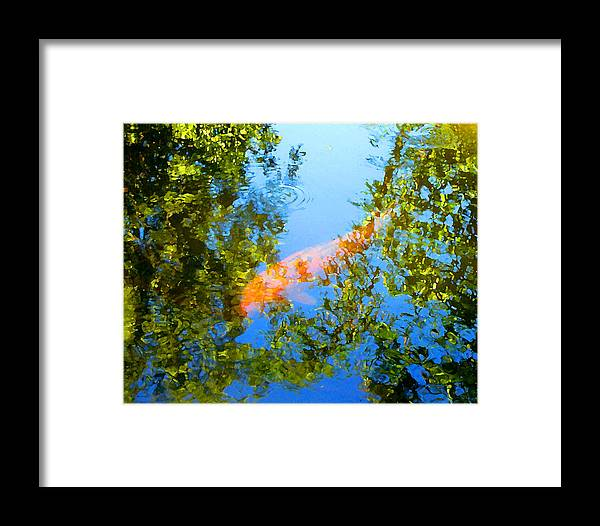 Animal Framed Print featuring the painting Koi Fish 3 by Amy Vangsgard