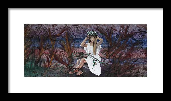 Kore Framed Print featuring the painting Kore by Stacey Austin