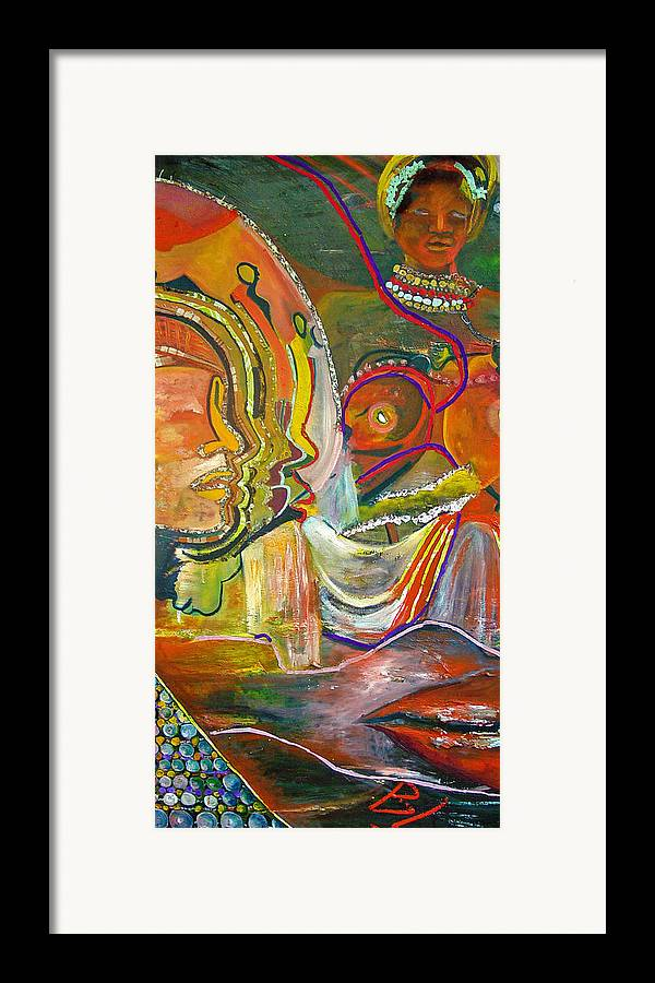 Impressionism Framed Print featuring the painting Koulikoro Woman by Peggy Blood