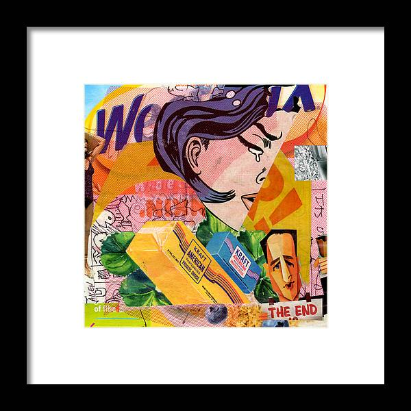 Abstract Framed Print featuring the mixed media Kraft American by Richard Allen