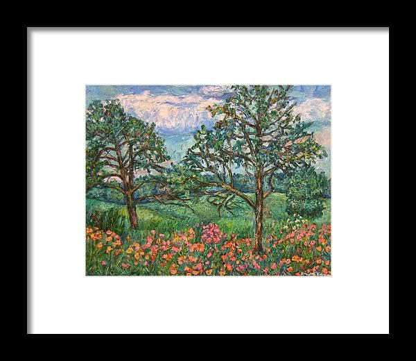 Landscape Framed Print featuring the painting Kraft Avenue In Blacksburg by Kendall Kessler