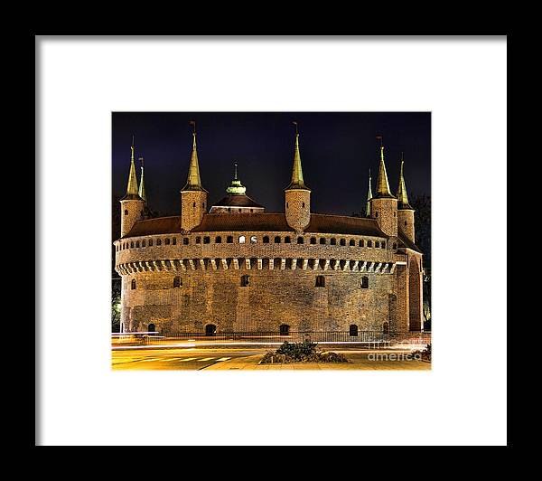 Krakow Barbican Framed Print featuring the photograph Krakow Barbican by Mariola Bitner