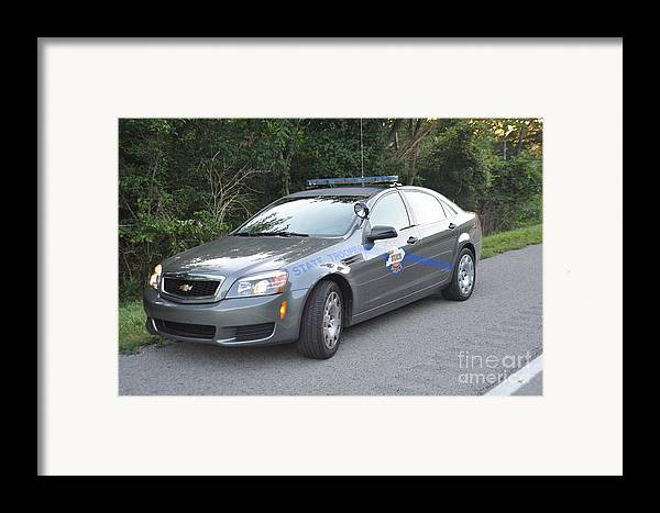 Kentucky State Police Cruiser Framed Print featuring the photograph Ksp Cruiser by Steven Townsend